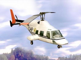 Bell 222 Helicopter 3d model