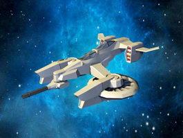 Sci-Fi Gunship 3d model