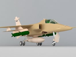 RAF Jaguar Attack Aircraft 3d model