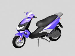 Purple Electric Moped 3d model