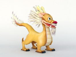 Cute Chinese Dragon 3d model