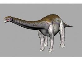 Apatosaurus Dinosaur Rig 3d model