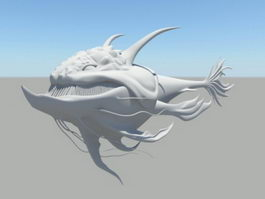 Fish Monster 3d model