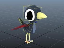 Cartoon Bird Rig 3d model