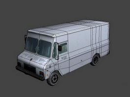 Freightliner Box Van 3d model