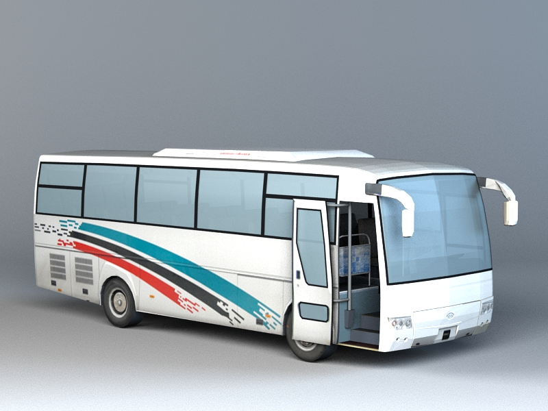 3dSkyHost: Coach Bus 3D Model