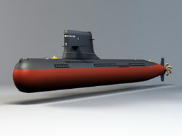 Navy Submarine 3d model