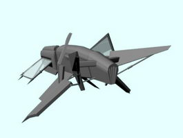 Space Starfighter 3d model