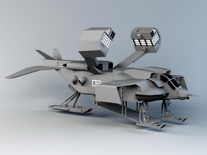 Dropship Concept Art 3d Model 3ds Max Files Free Download