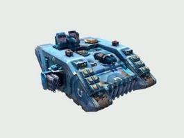 Sci-Fi Battle Tank 3d model