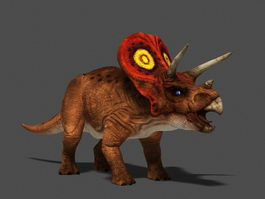 Triceratops Dinosaur Rig 3d model