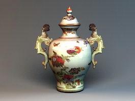Vintage Pottery Vase 3d model