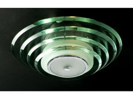 Glass Semi Flush Ceiling Light 3d model