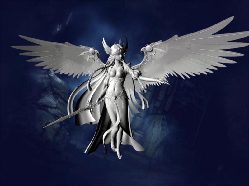 angel warrior 3d model maya files free download modeling 46452 on