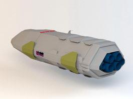 Sci-Fi Space Transporter 3d model
