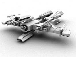 Sci-Fi Space Fighter 3d model