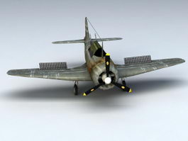 WW2 Fighter Plane 3d model