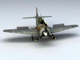 WW2 Fighter Plane 3d model