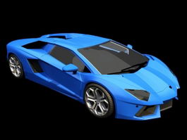 Animated Lamborghini Aventador 3d model