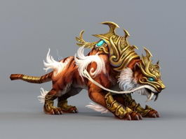 Fantasy Tiger 3d model