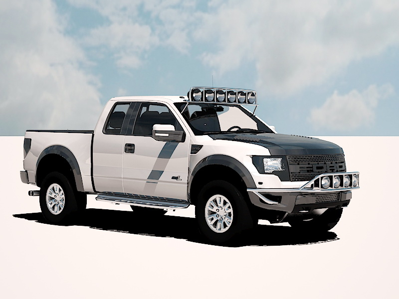 3dSkyHost: Ford F-150 SVT Raptor 3D Model
