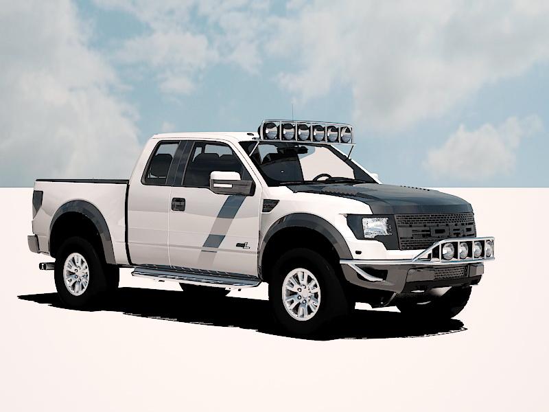 Ford F-150 SVT Raptor 3D Model