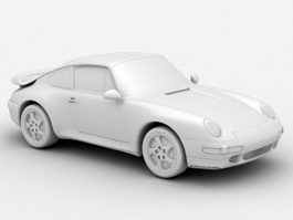 Porsche 993 Turbo 3d preview