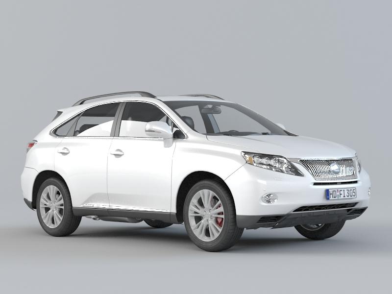 3dSkyHost: Lexus RX 450H 3D Model