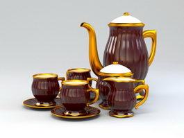 Porcelain Coffee Set 3d preview