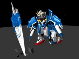 Gundam Seven Sword Animated & Rig 3d model