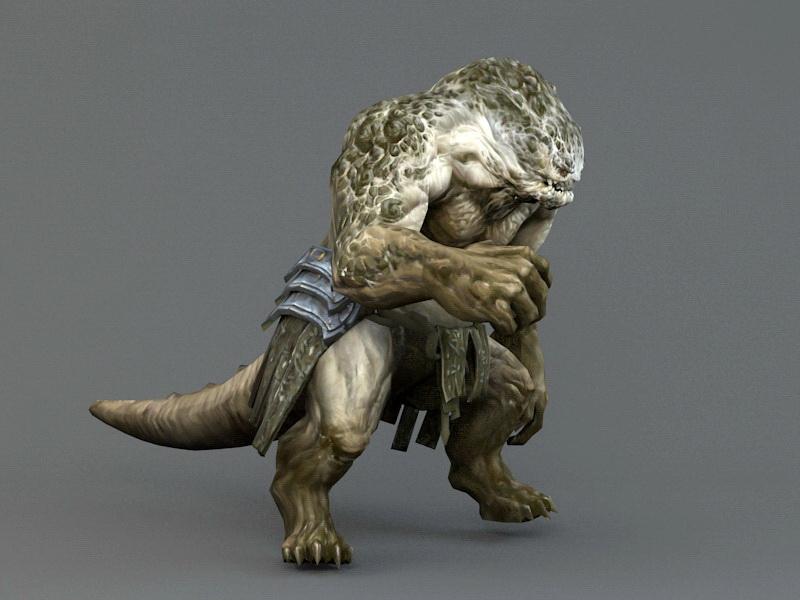 Lizard Warrior 3d Model Autodesk Fbx Object Files Free