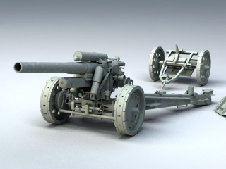Germany sFH 18 Heavy Field Howitzer 3d model