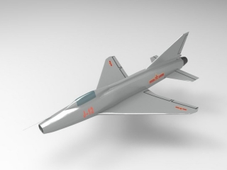 J-12 Chinese Fighter 3d model