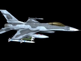 Combat Fighter Jet 3d model