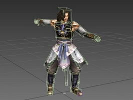Ancient Fighter Animated & Rig 3d model