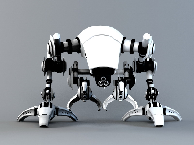 3dSkyHost: Battle Walker 3D Model