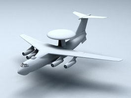 KJ-2000 AWACS Aircraft 3d model
