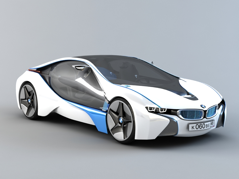 Bmw Vision Efficientdynamics 3d Model 3ds Max Files Free Download
