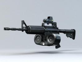 M4 with Magazine 3d model