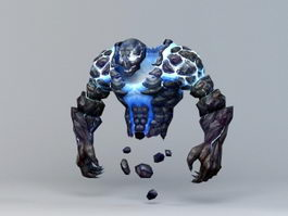 Thunder Elemental Creature 3d model