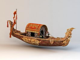 Gondola Boat 3d model