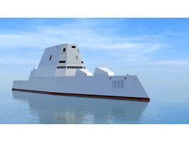 Zumwalt-class Destroyer 3d model