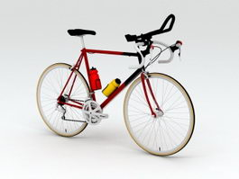 Vintage Racing Bicycle 3d model