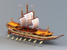 Ancient Chinese Naval Ship 3d model