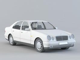 80S Mercedes Car 3d model