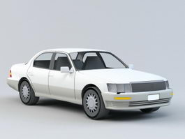 Old Lexus Sedan 3d model