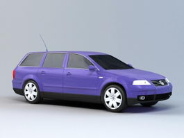 VW Passat Station Wagon 3d model