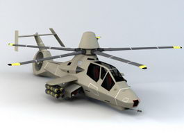 Eurocopter EC130 Attack Helicopter 3d model