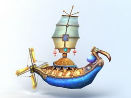 Anime Flying Ship 3d model