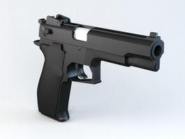 Black Pistol 3d model